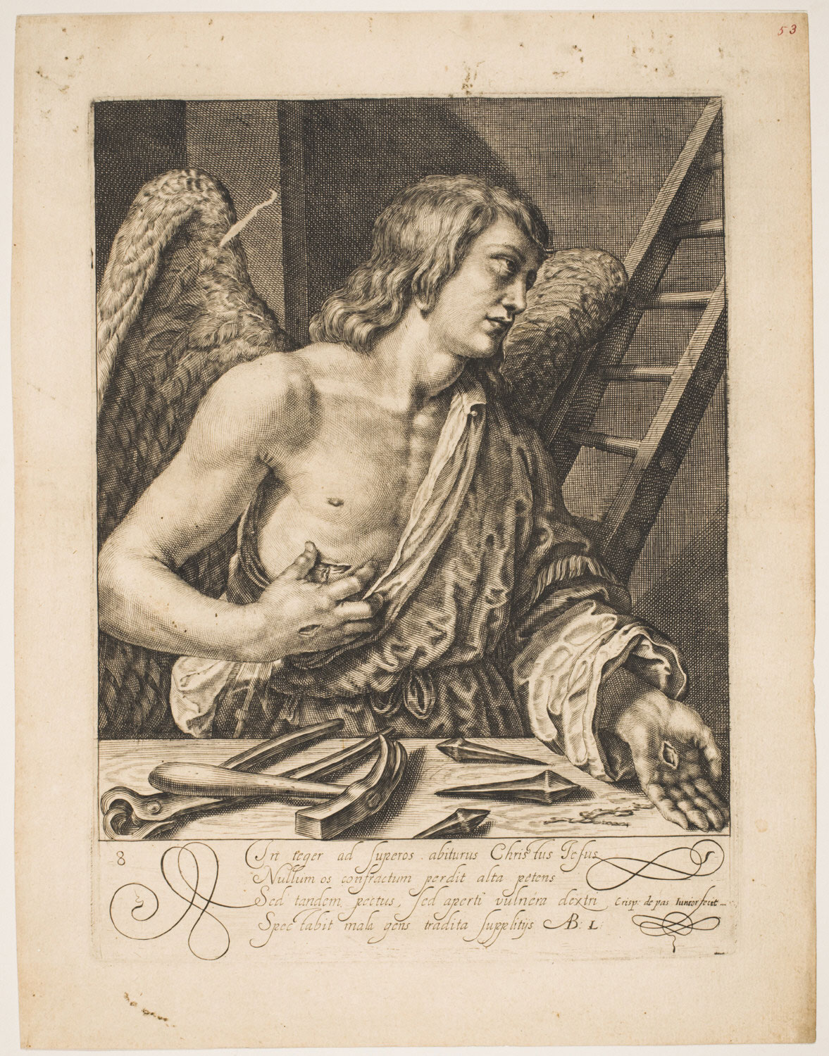 Angel Showing the Wounds of Christ