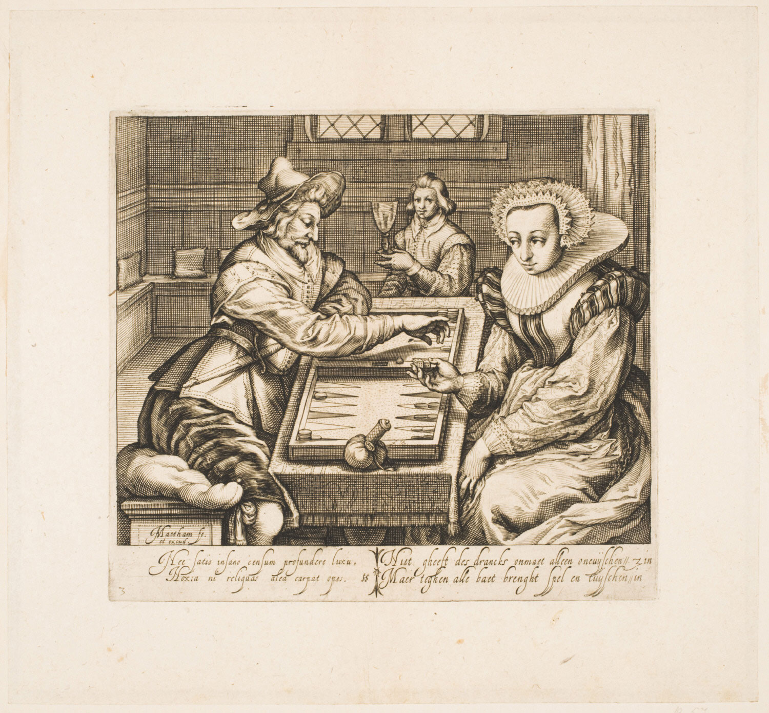 Couple Playing Tric-Trac