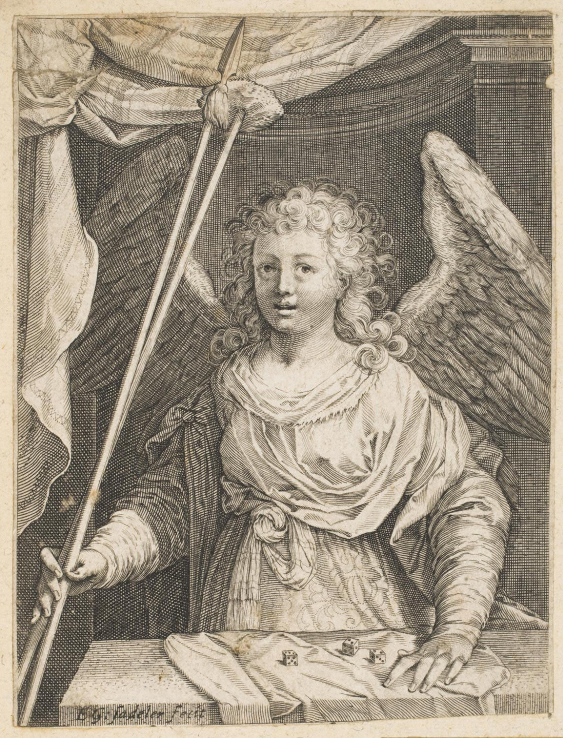 Angel with the Lance, Sponge, and Dice
