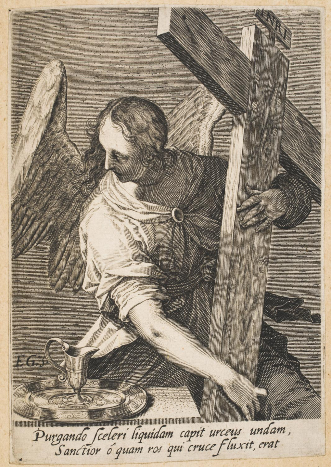 Angel with the Cross and the Pitcher and Salver