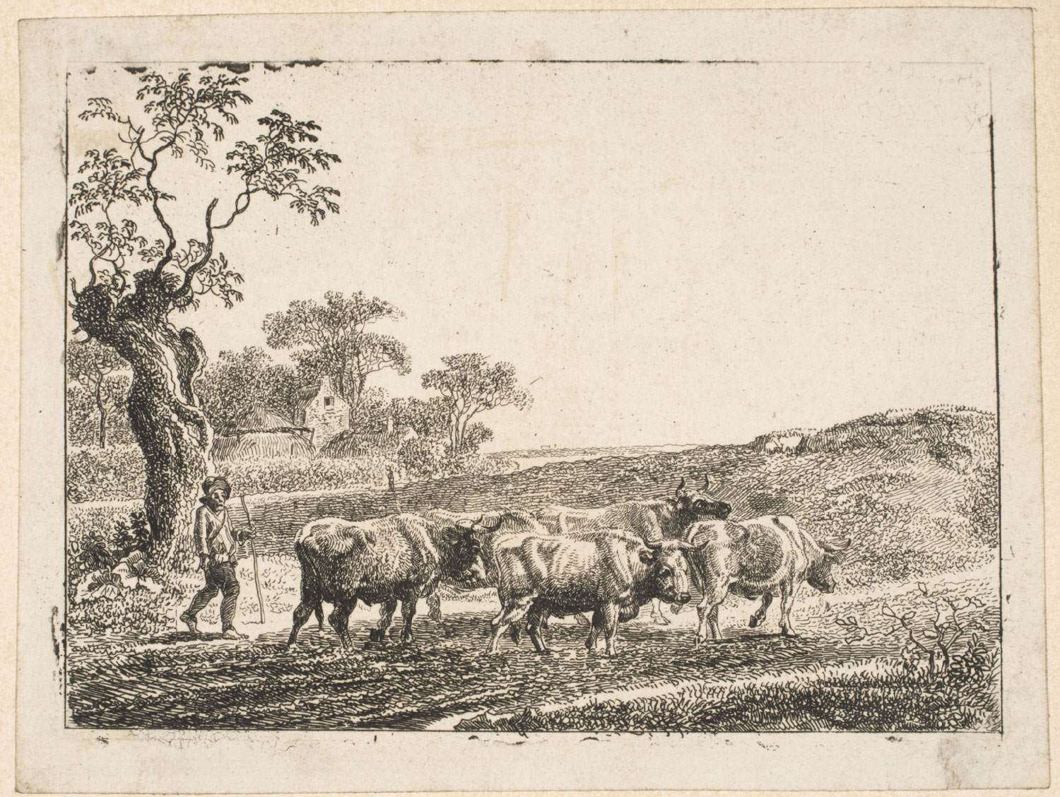 Broad Landscape with Herdsman Driving Cattle