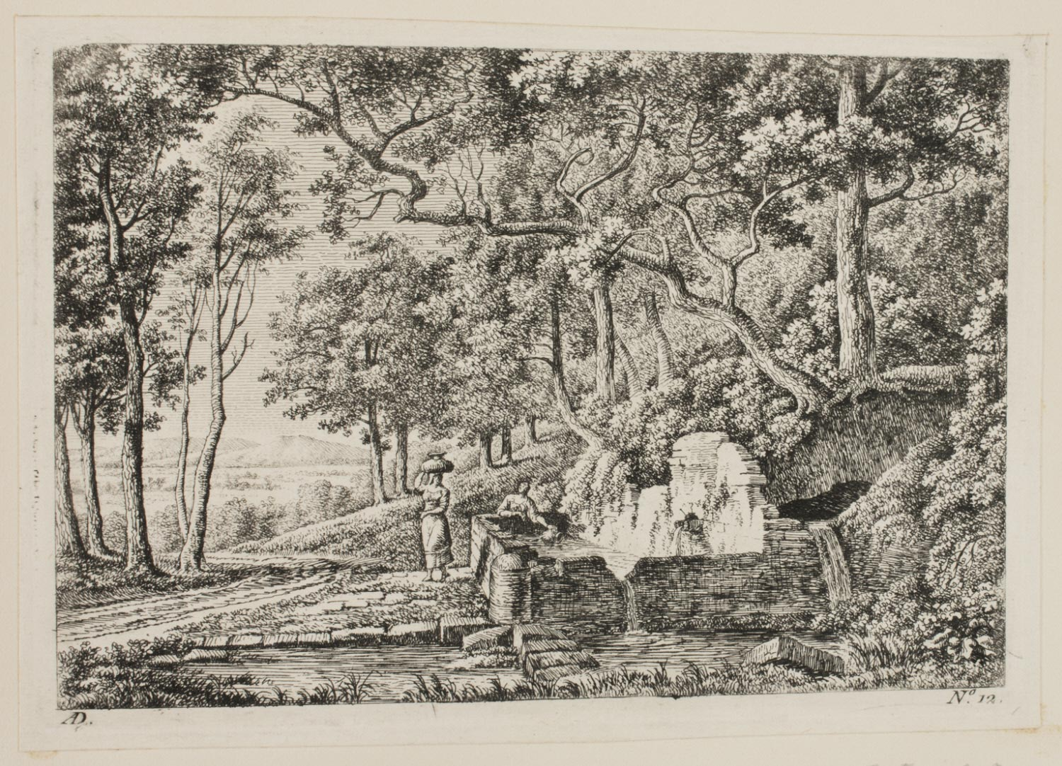 Italian Landscape with Women by a Spring