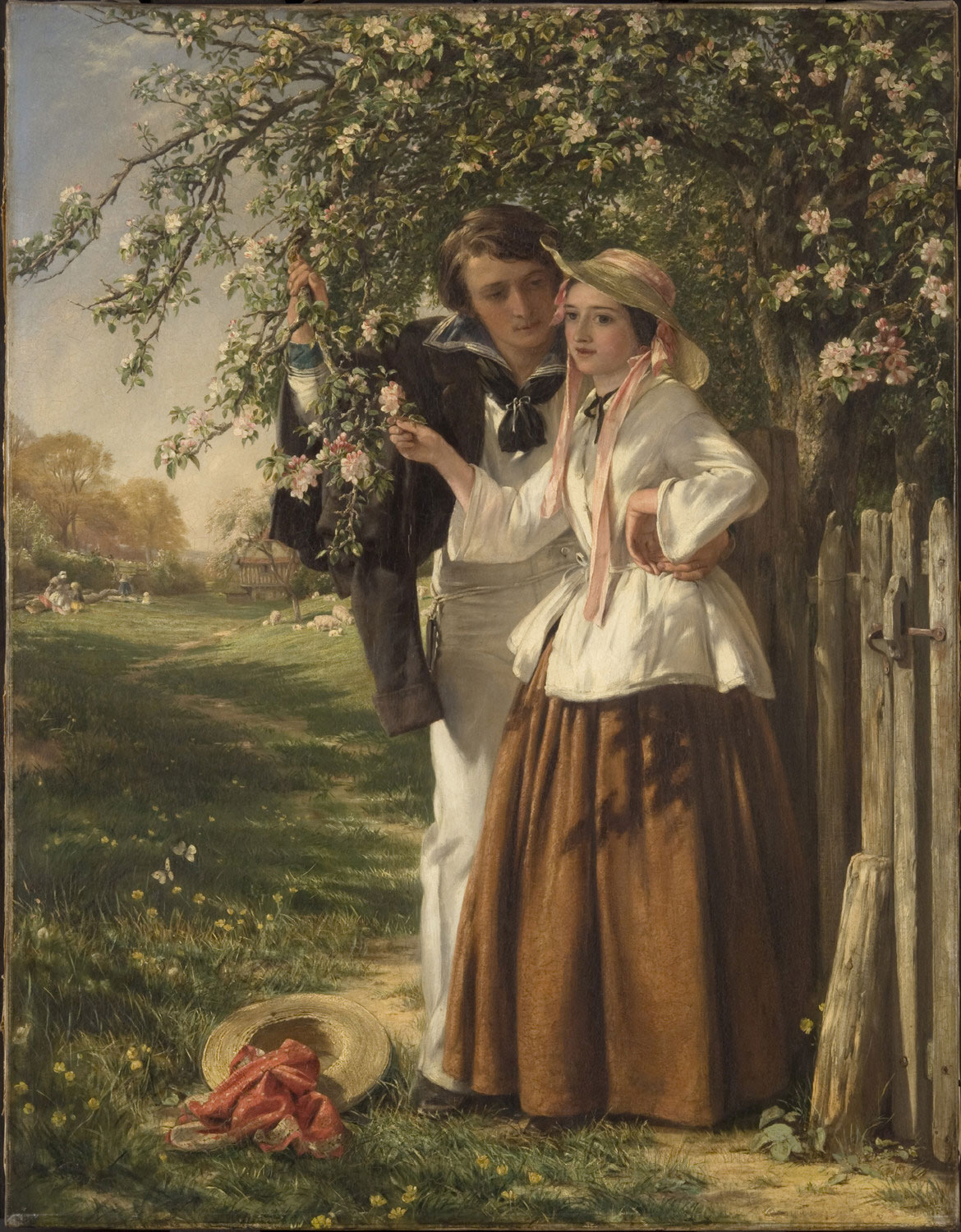 Lovers under a Blossom Tree