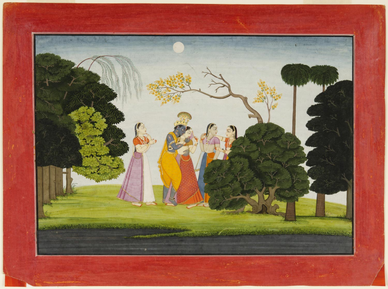 Krishna Meets the Gopis at Night
