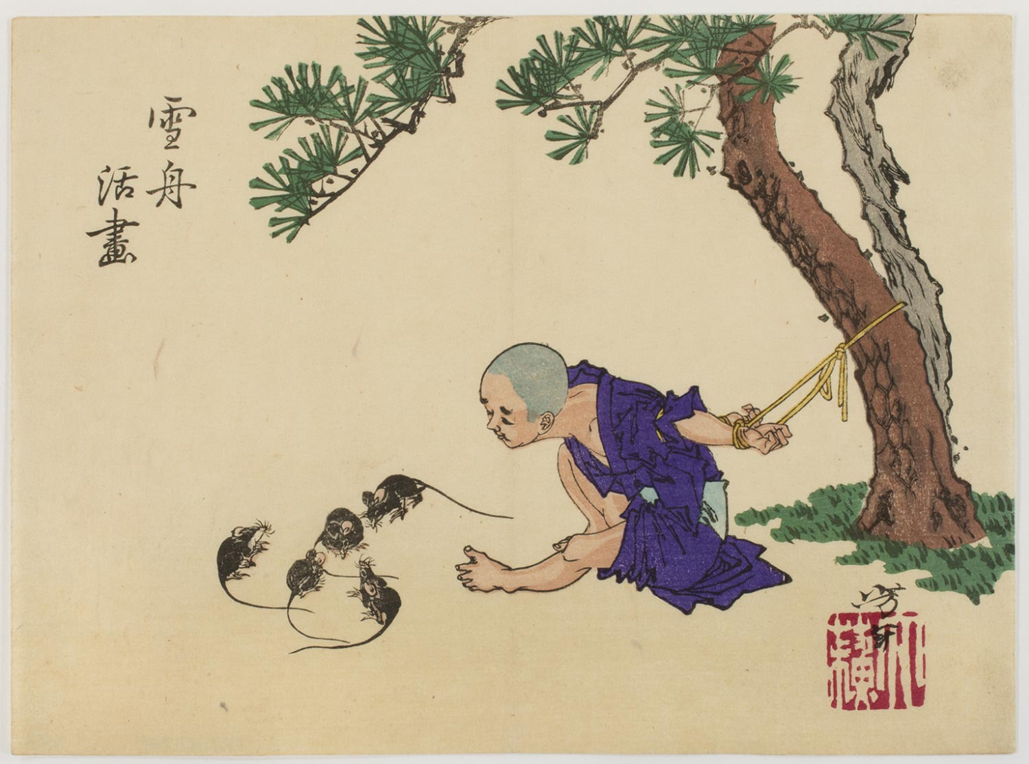 Sesshū Drawing Rats Which Come to Life