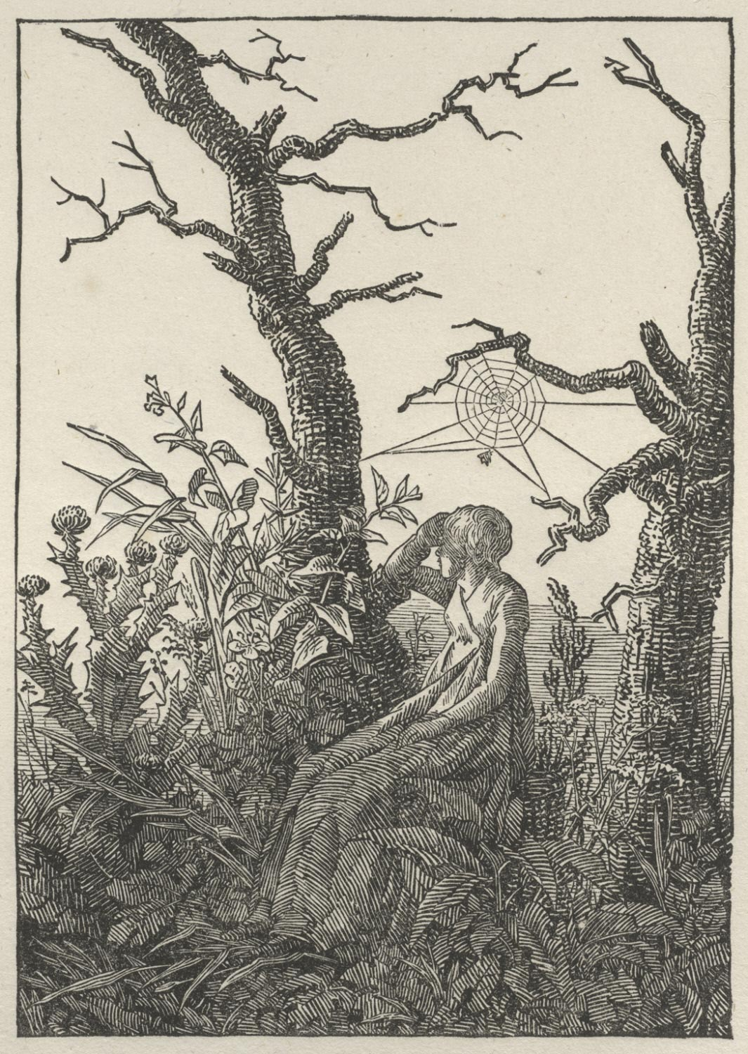 Woman Seated under a Spider's Web (Melancholy)