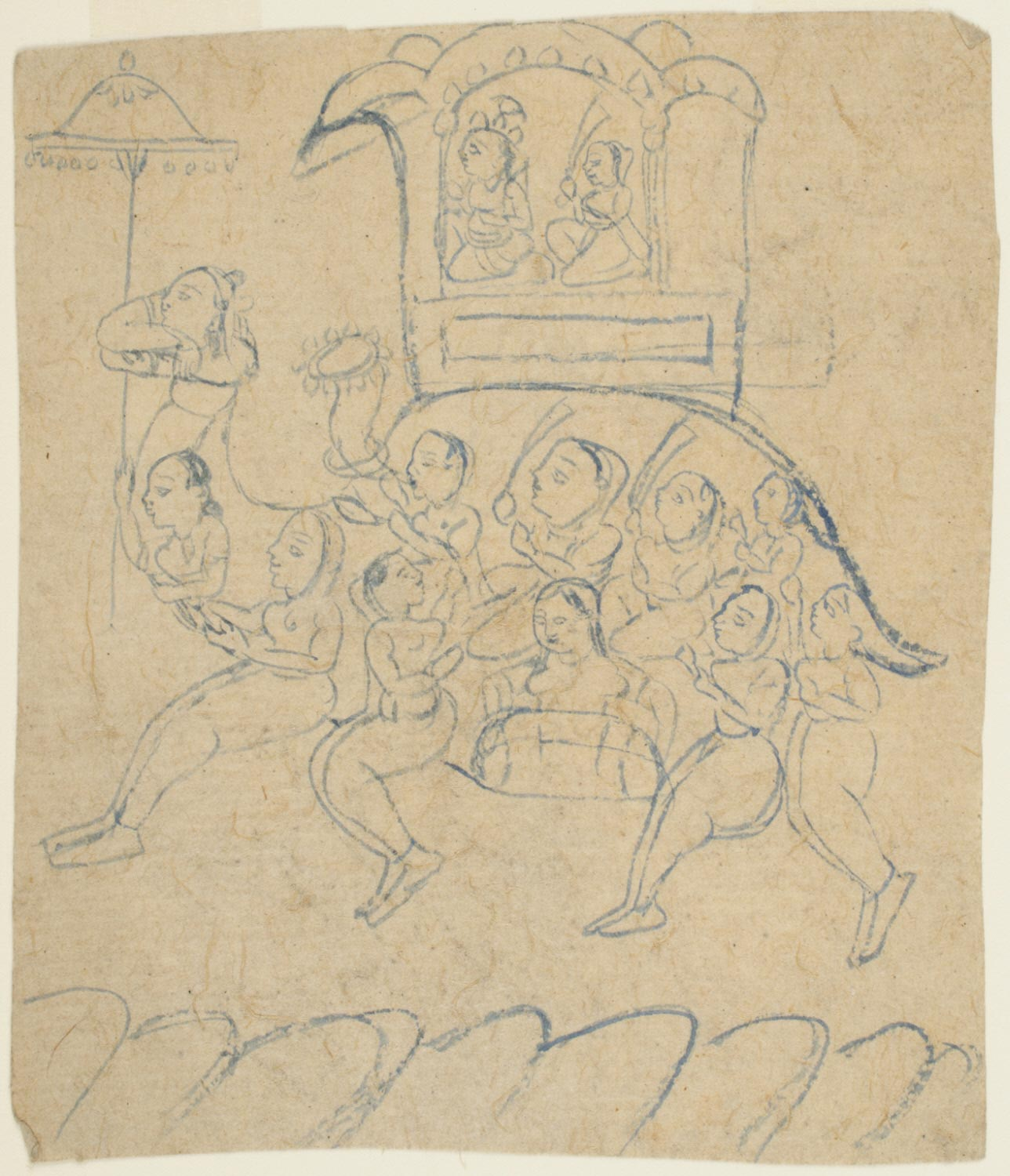A Composite Camel Formed of Women with Krishna and Radha Seated in a Howdah