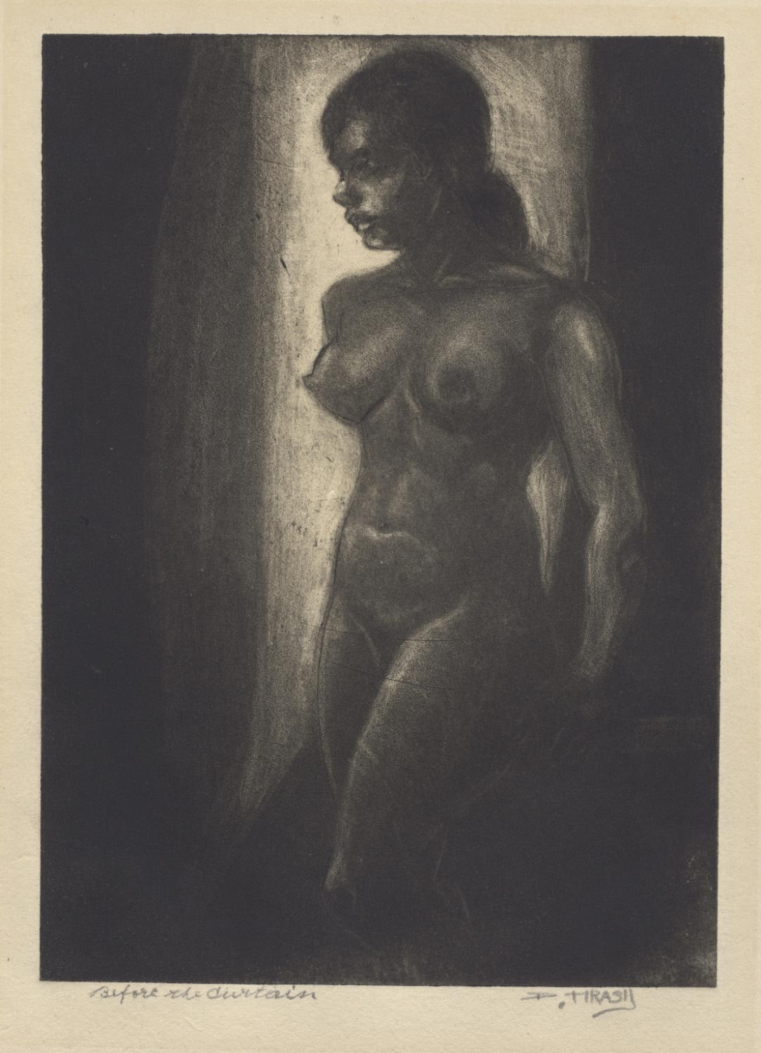 Before the Curtain (Nude Model)