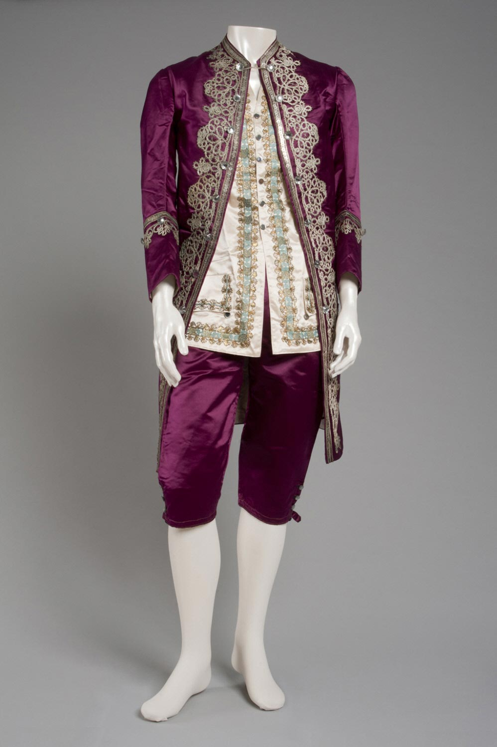 Man's Fancy Dress Ensemble in Eighteenth-Century Style: Coat, Breeches, and Waistcoat