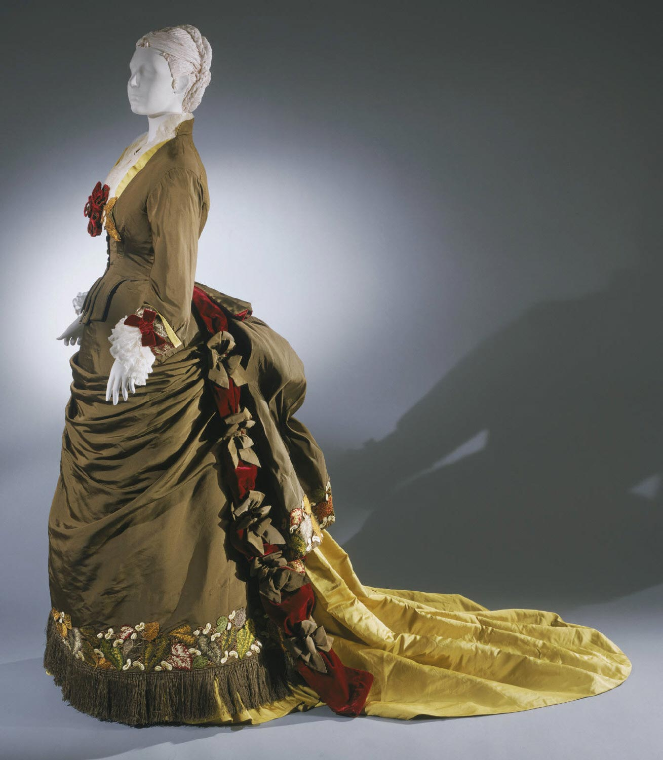 Woman's Dress with Day/Dinner Bodice, Evening Bodice and Skirt