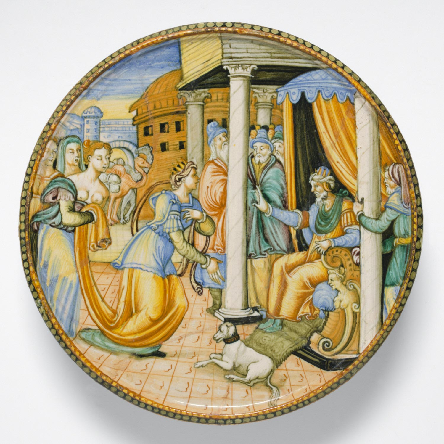 Plate with the Queen of Sheba before King Solomon