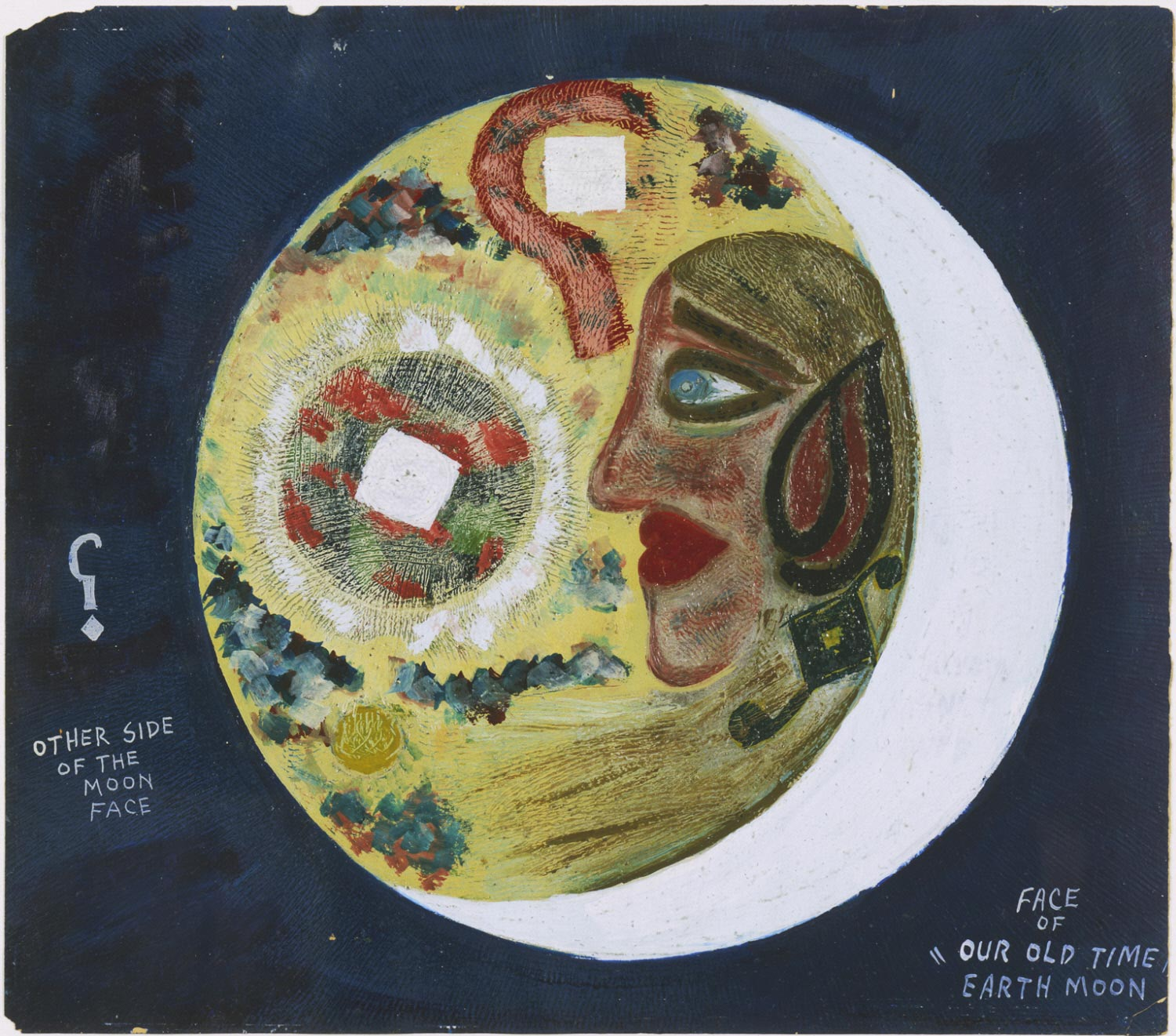 Face of Our Old Time Earth Moon