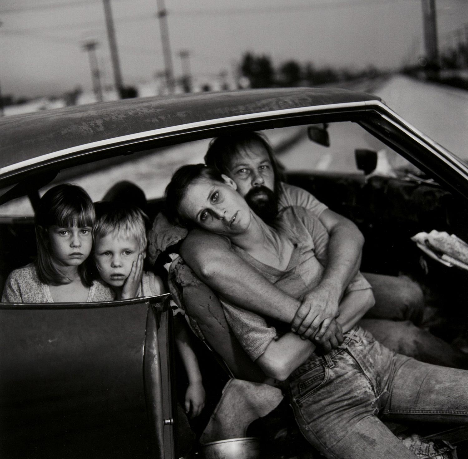 The Damm Family in Their Car, Los Angeles, California