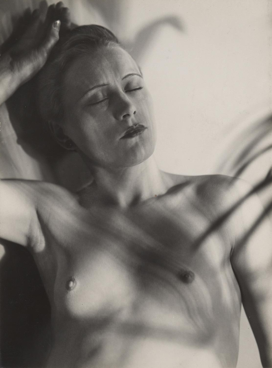 Untitled (Female Nude with Cast Shadows)