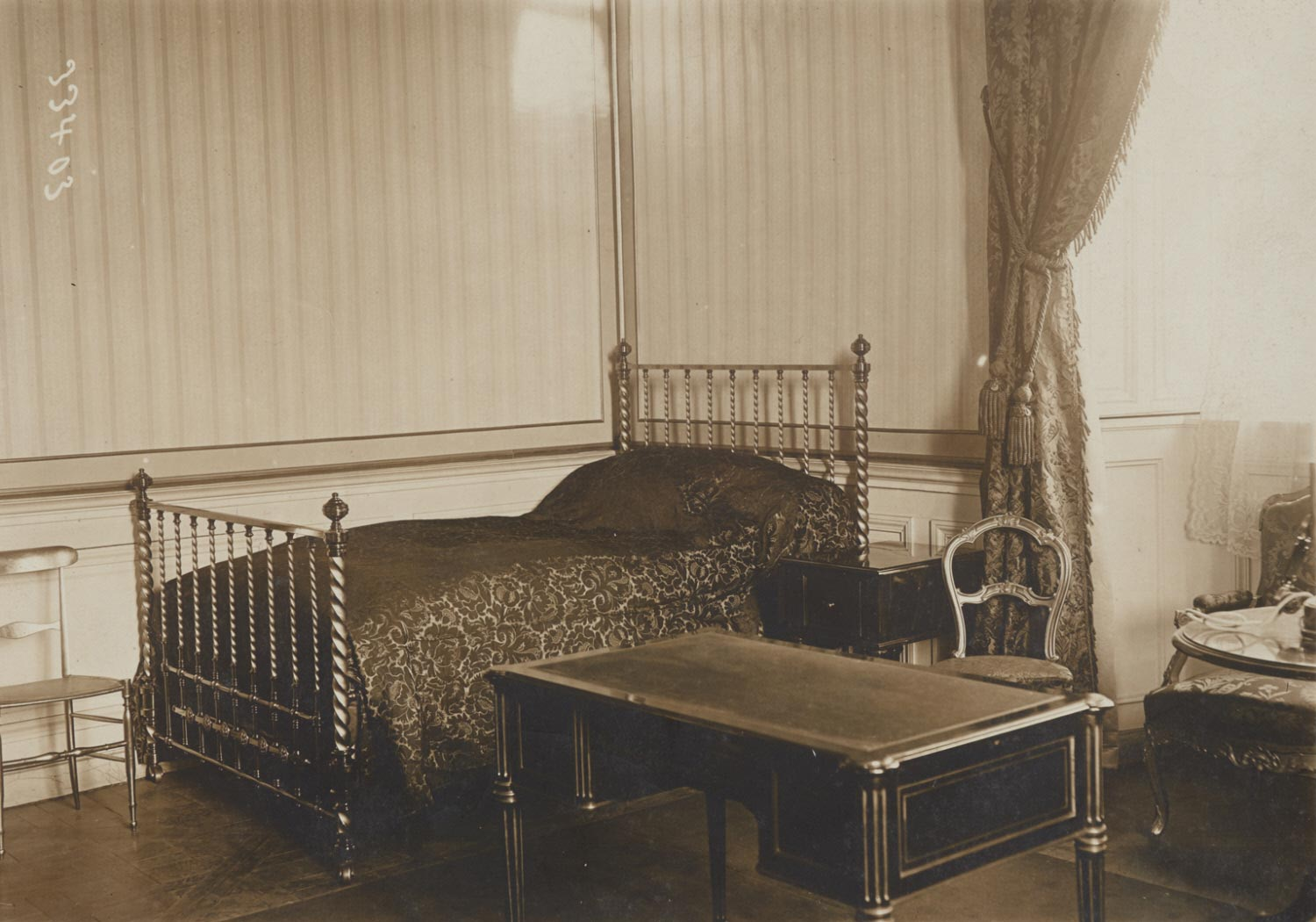 Before the Congress of Versailles: the Bedroom which the Future President Might Use before His Return to Paris the Day after the Election