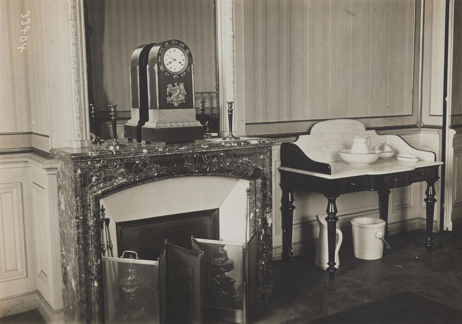 Congress of Versailles: The Washstand in a Corner of the Bedroom of the President