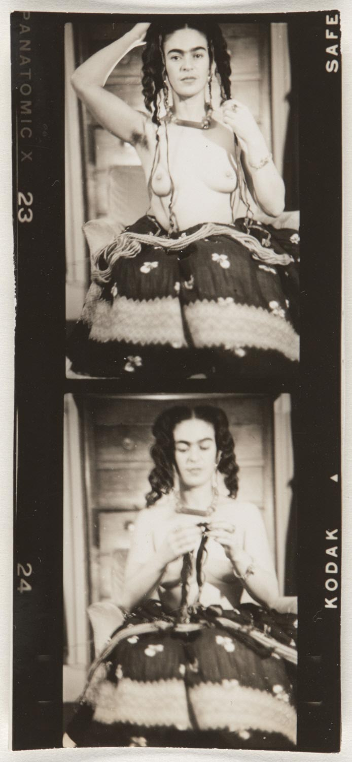 Frida Kahlo (Strip of Two Contact Prints)