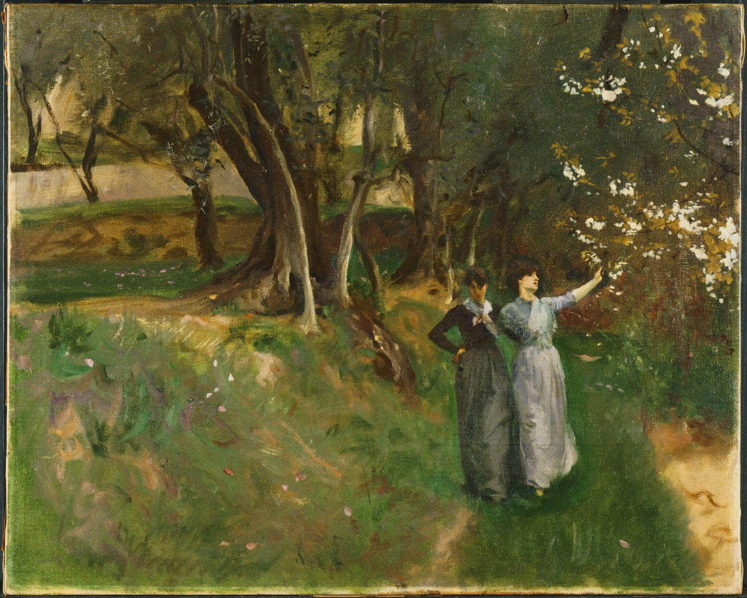 Landscape with Women in Foreground