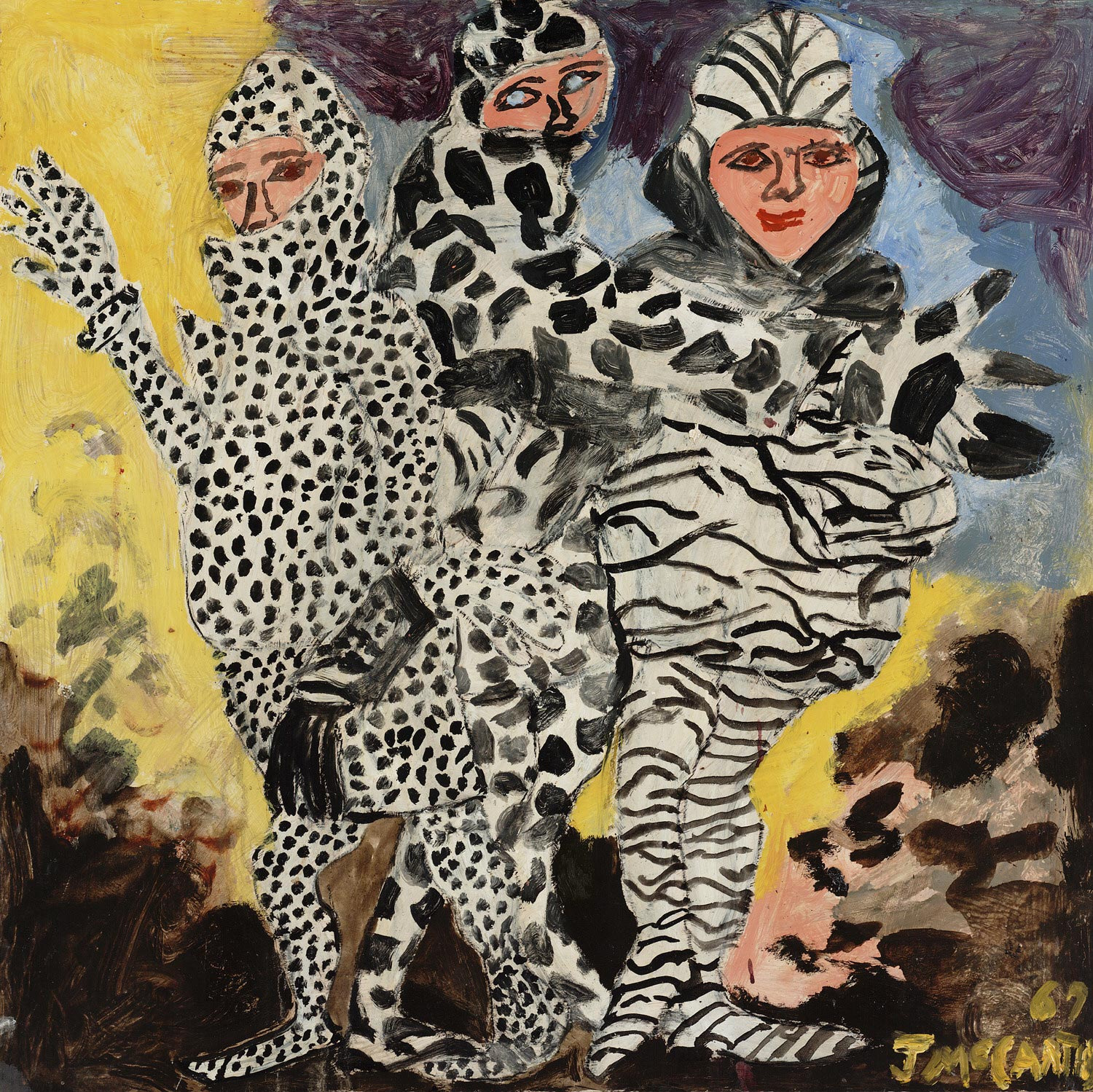 Fashion (Three Figures in Animal Skin Couture)