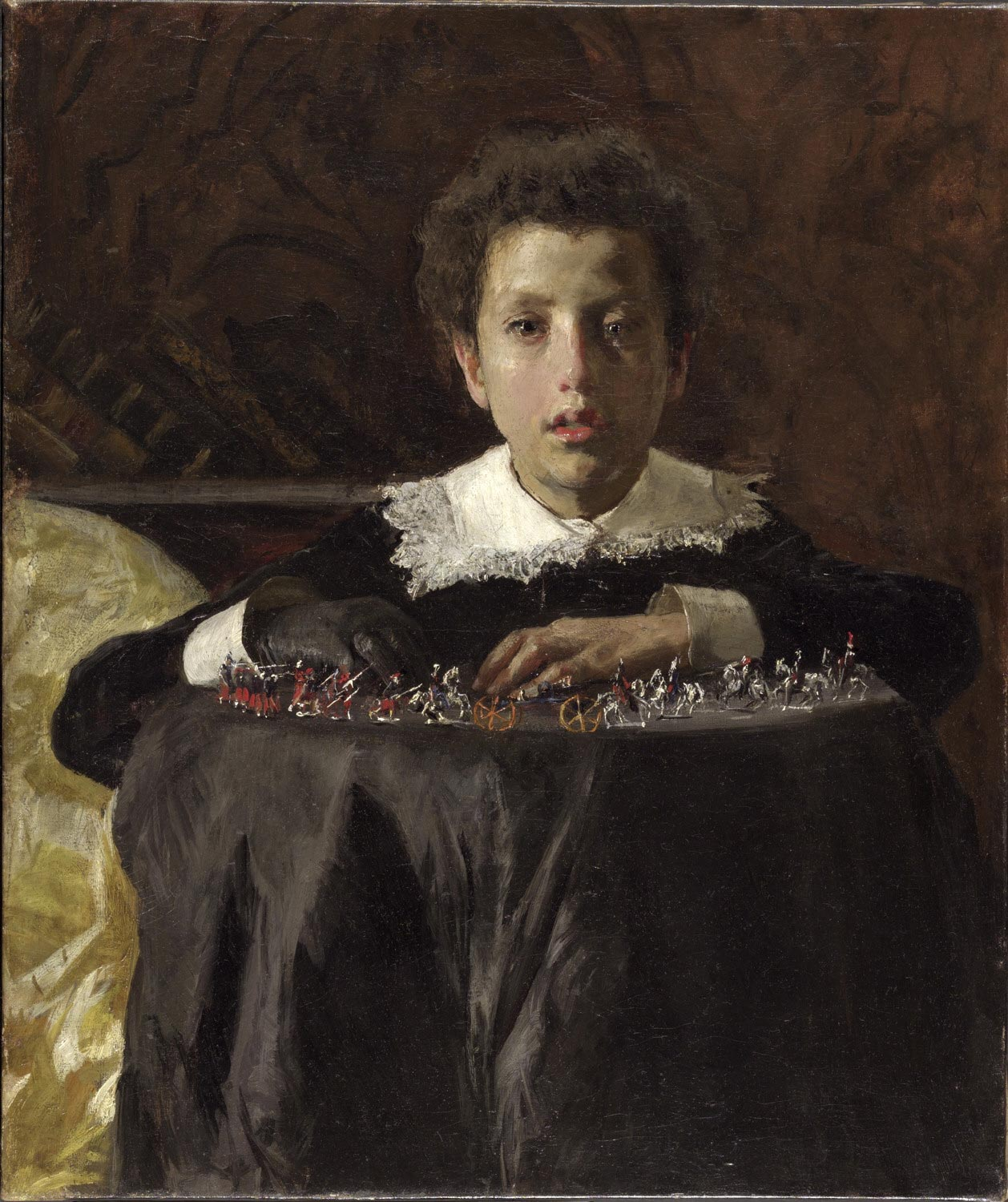 Boy with Toy Soldiers