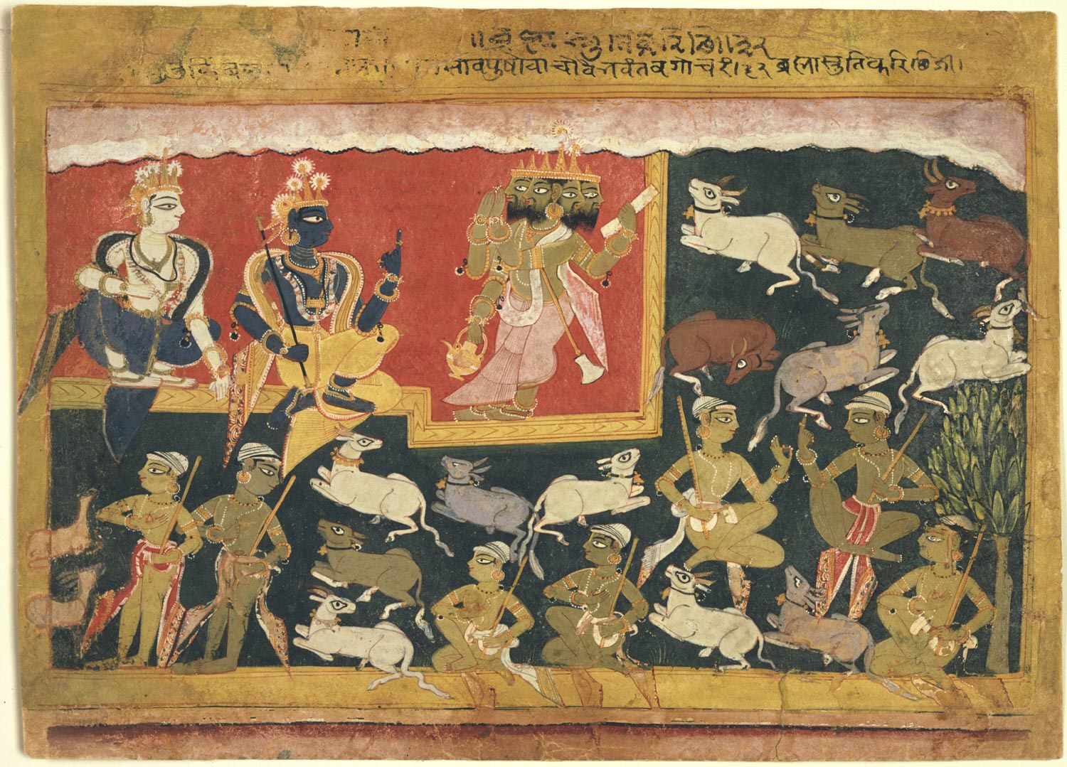 Brahma Offers Homage to Krishna