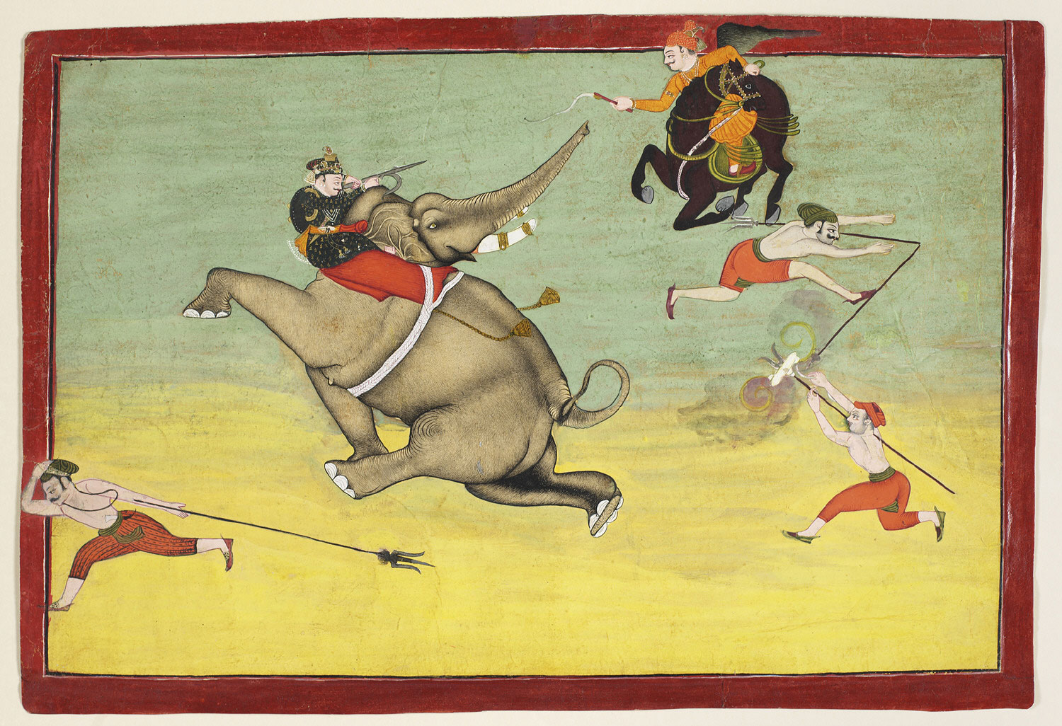 A Prince Restrains a Rampaging Elephant