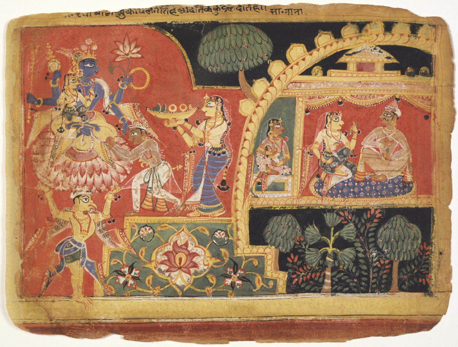 The Earth Goddess Returns the Stolen Goods to Krishna and Pays Homage to Him