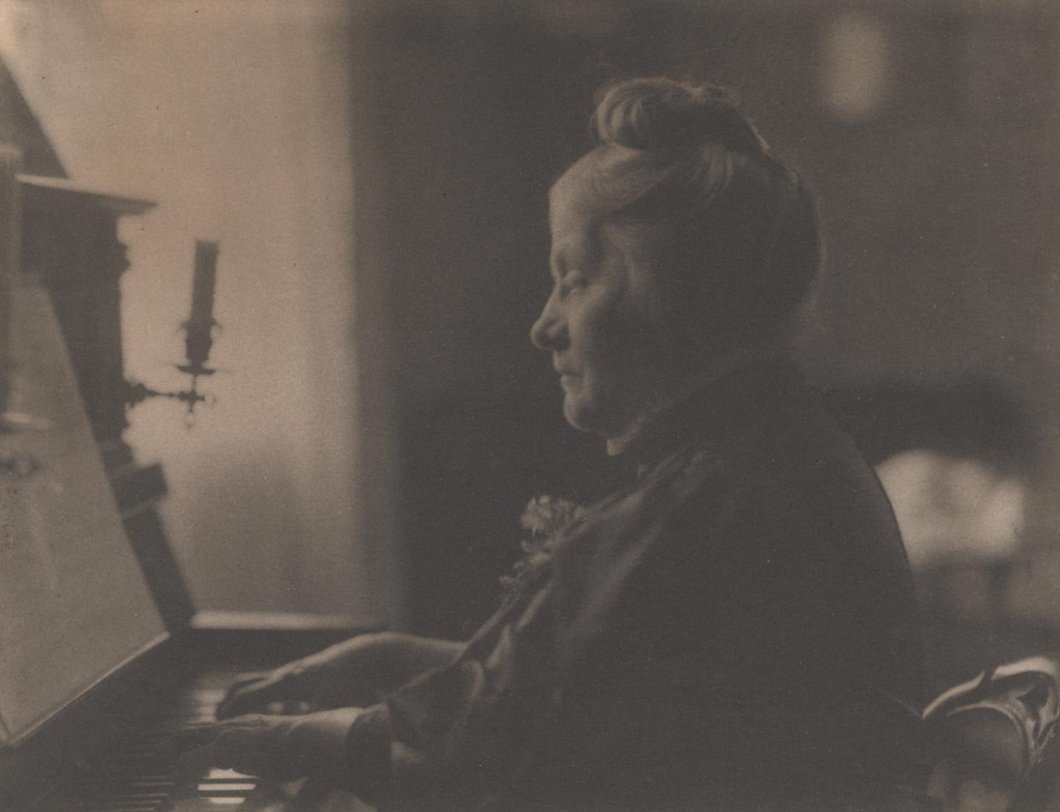 Elderly Woman at Piano (Martin's Mother)