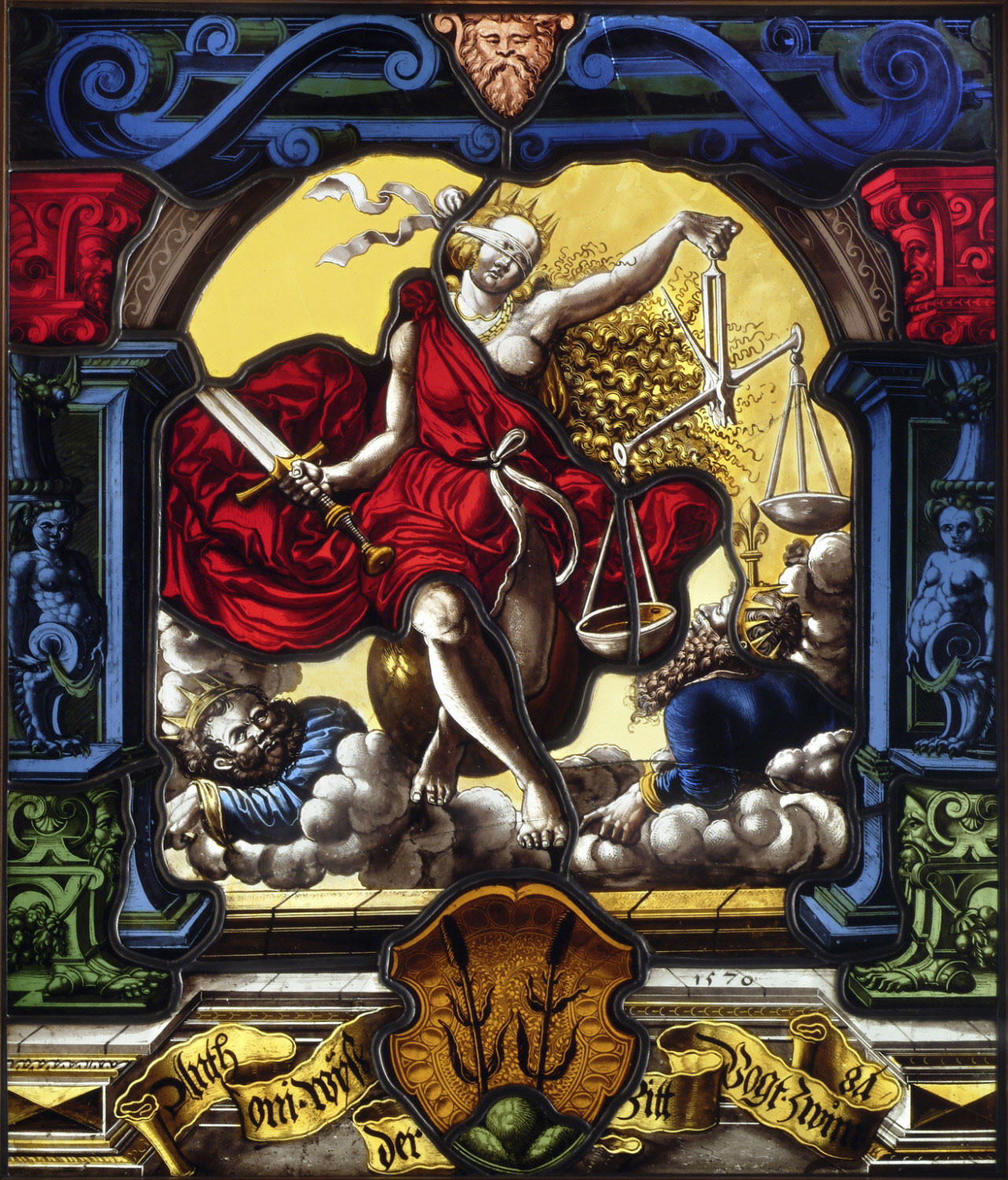 Allegory of Justice with the Coat of Arms of Anthoni Wyss (1531-1588)