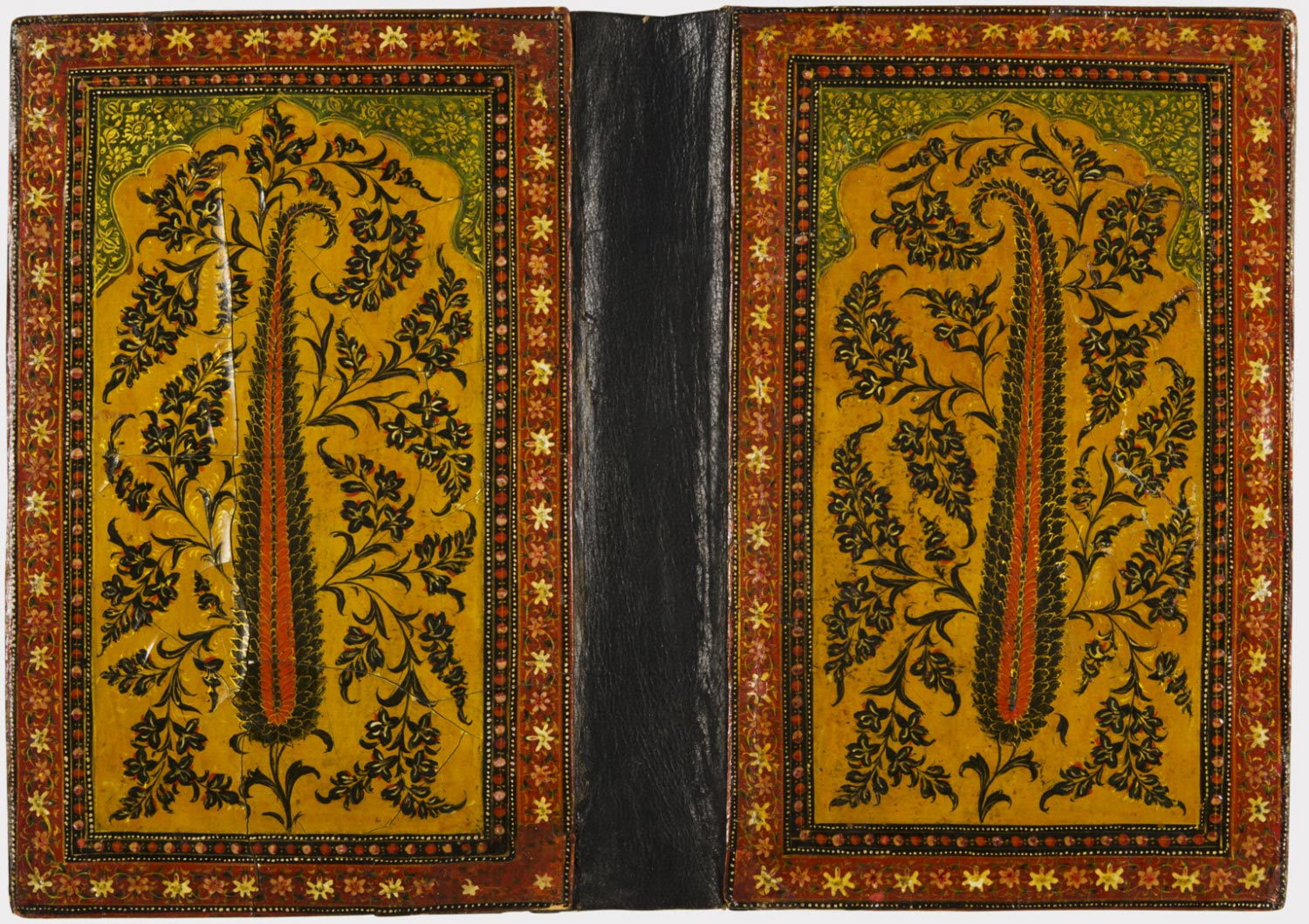 Codex Book Cover With Boteh Motif