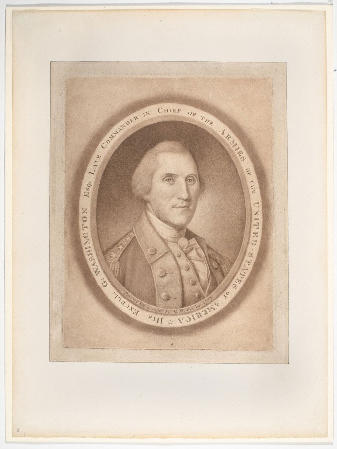 His Excell. G. Washington Esq. Late Commander in Chief of the Armies of the United-States of America