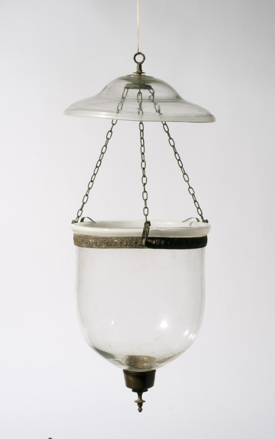 Bell-shaped Hanging Lamp with Separate Glass Lid