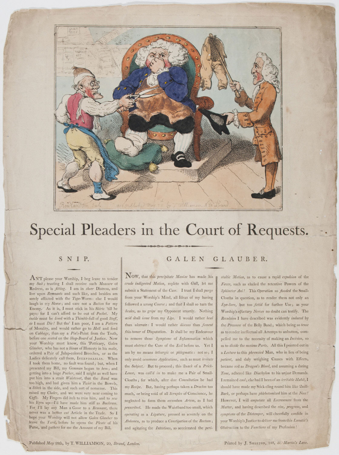 Special Pleaders in the Court of Requests