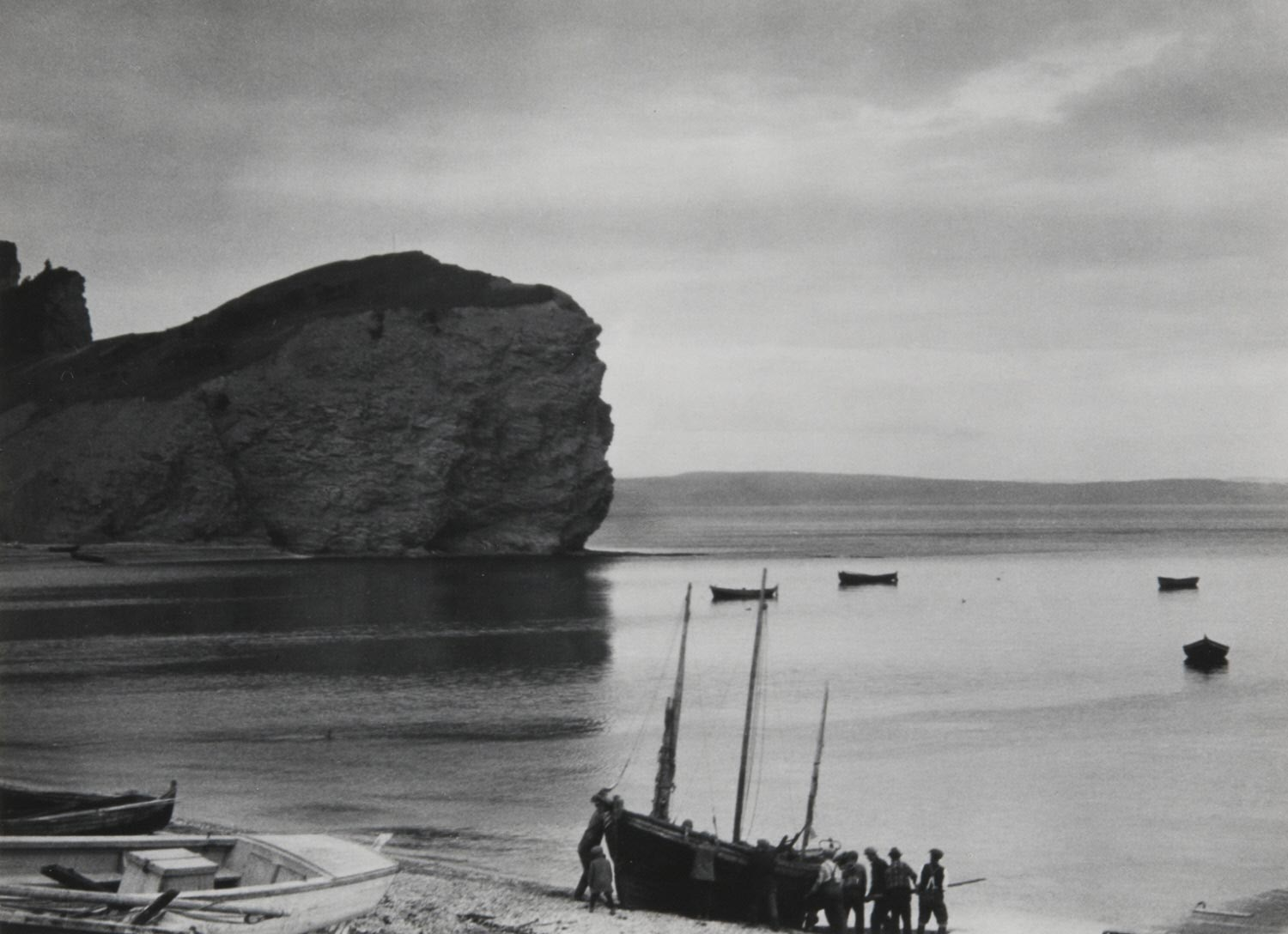 Beaching the Boat, Percé, Gaspé