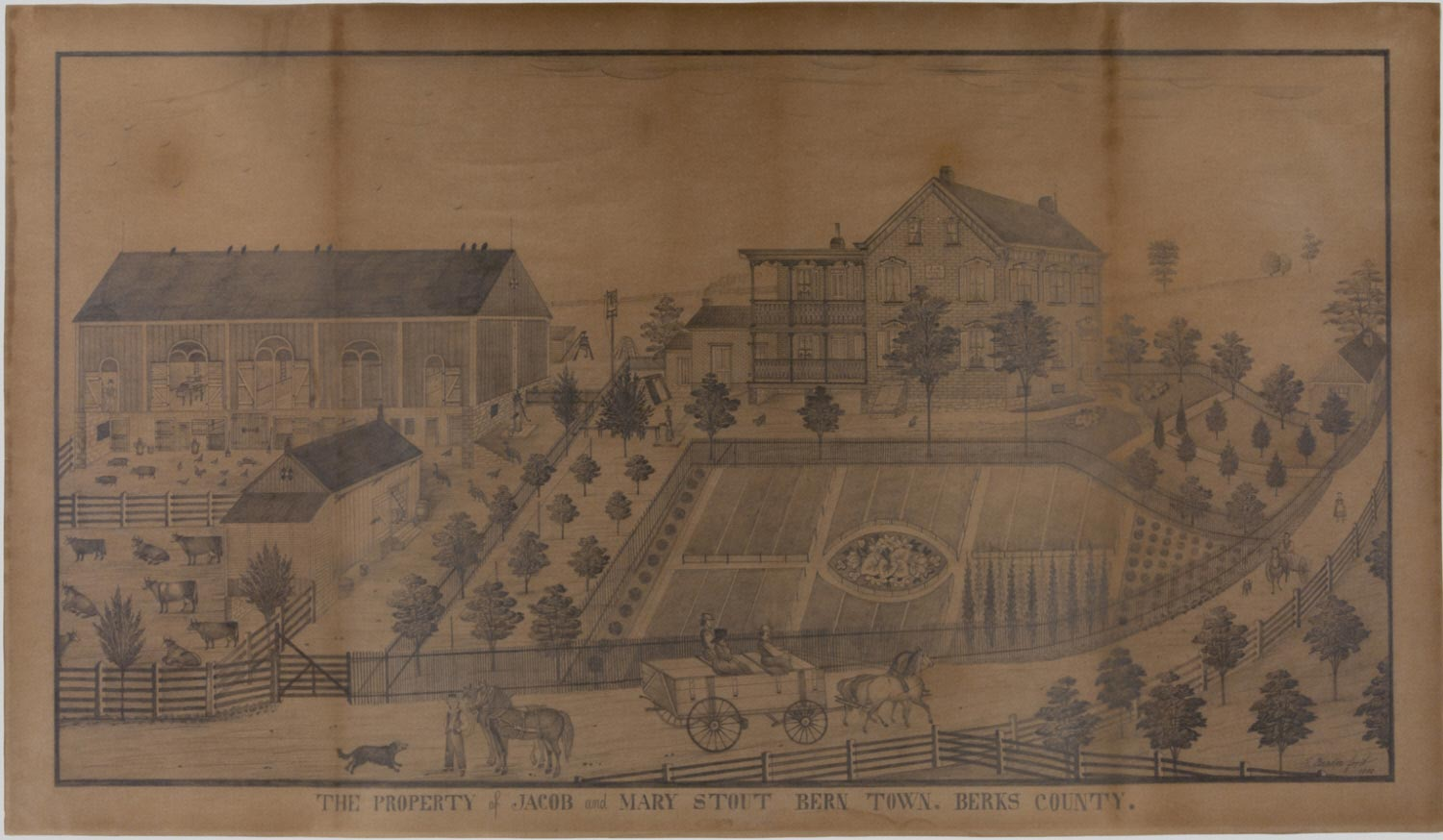 The Property of Jacob and Mary Stout, Bern Town, Berks County, Pennsylvania