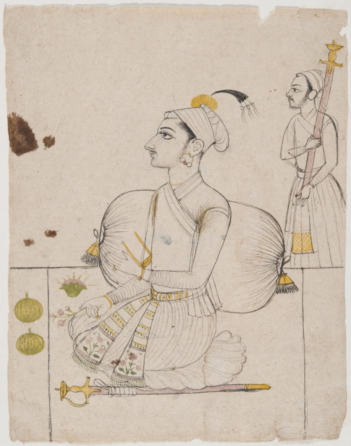 A Portrait of a Prince Seated against a Bolster