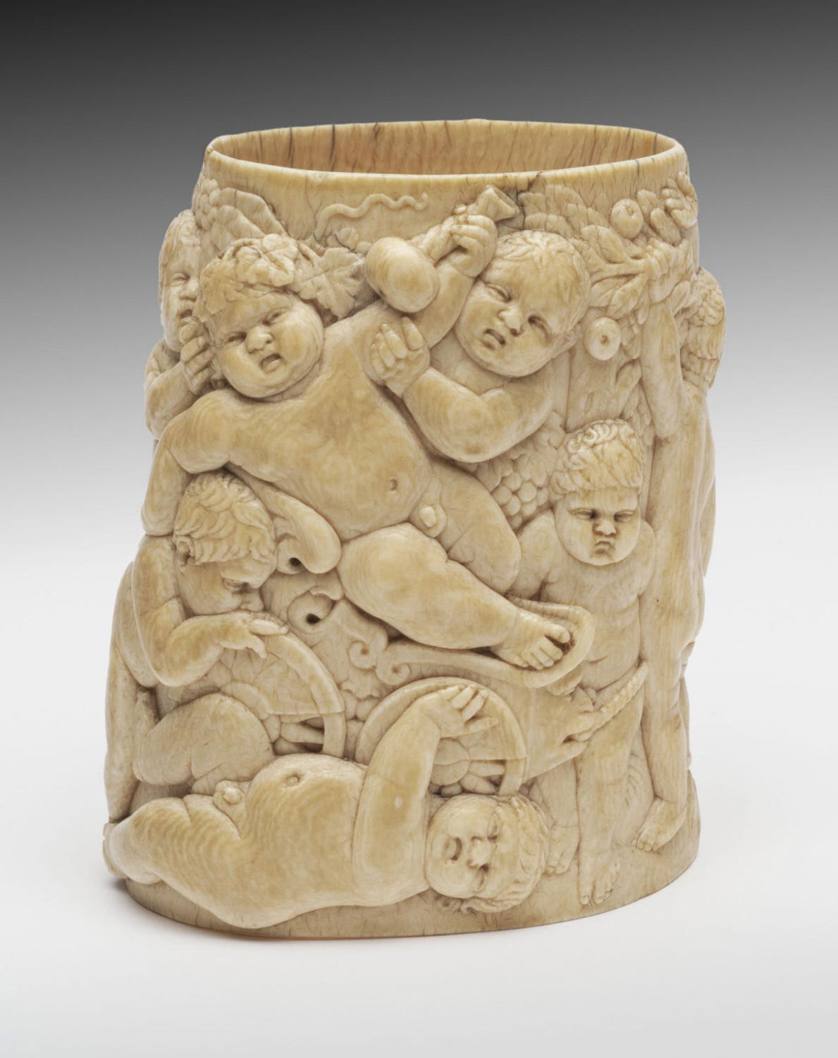 Ivory Sleeve for a Tankard with a Procession of Bacchic Putti