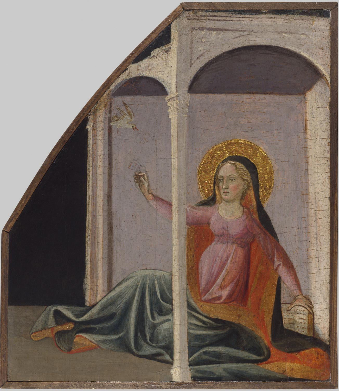 Fragment of a Triptych: The Virgin Annunciate