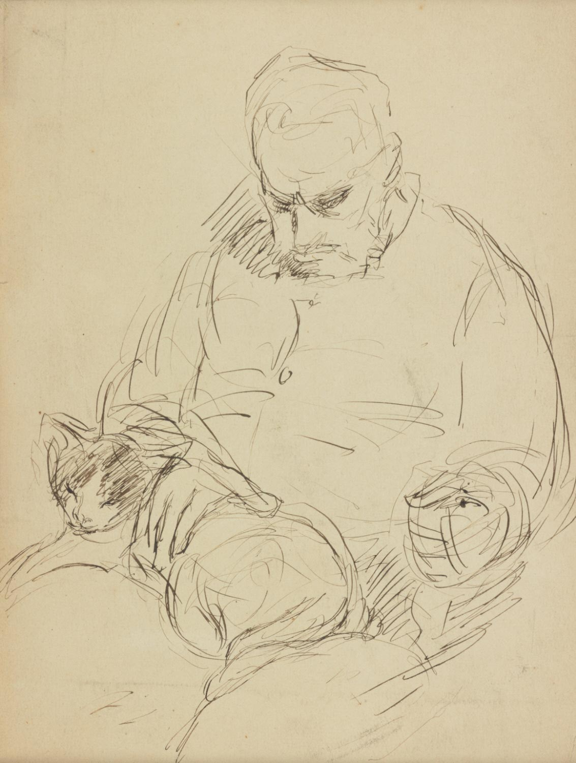 Sketch of Thomas Eakins (Double-sided)