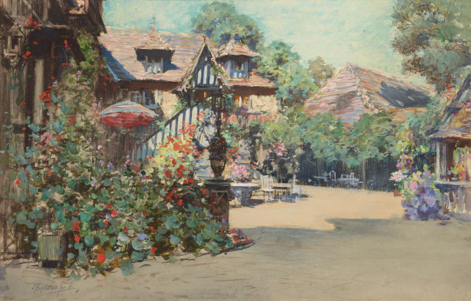 Summer Afternoon, Inn of William the Conqueror, Dives-sur-mer, Normandy