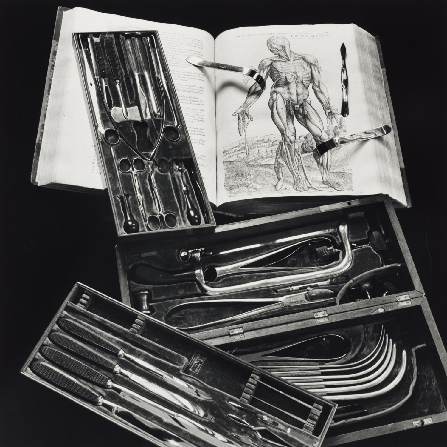 Civil War Surgeon's Field Kit and Anatomy Text (Vesalius)