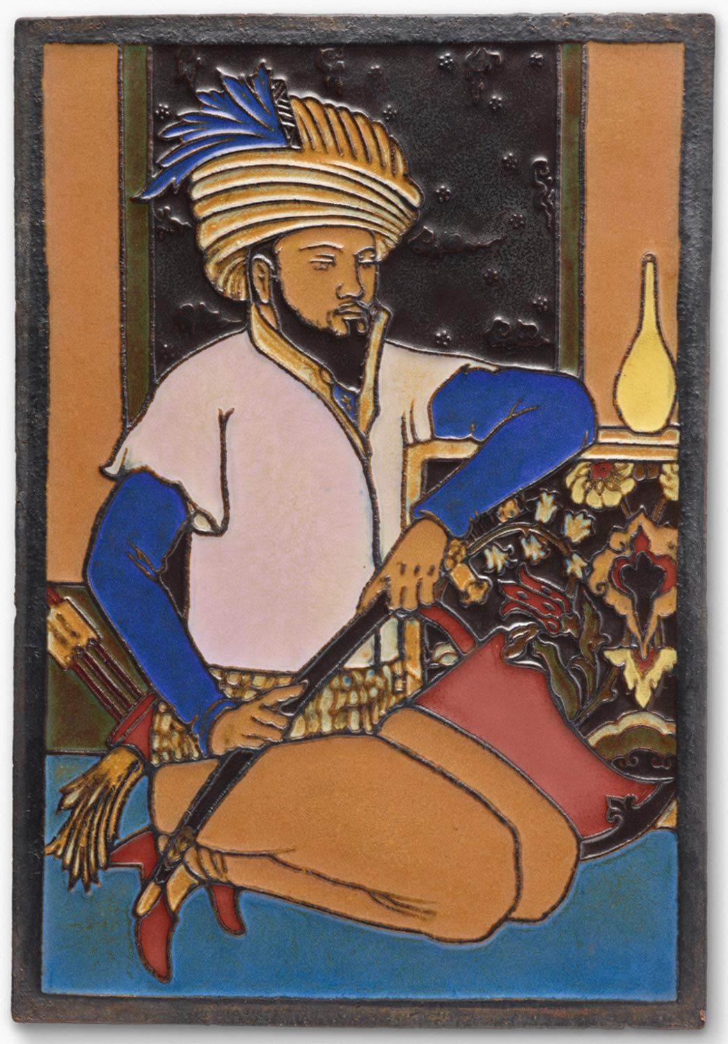 Indian Figure in Colored Enamels
