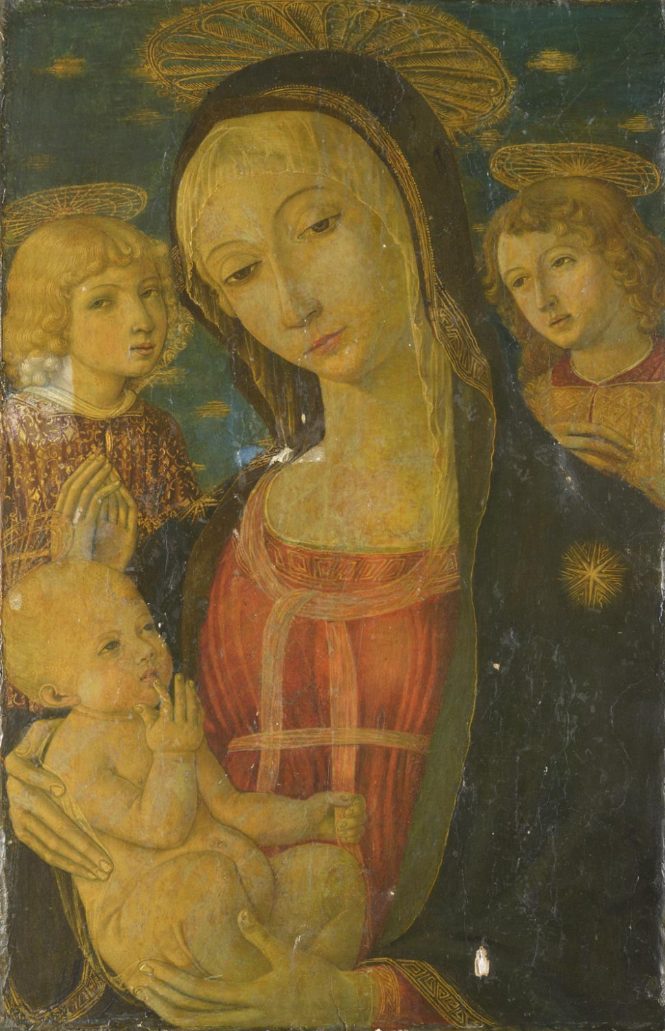 Virgin and Child, with Two Angels