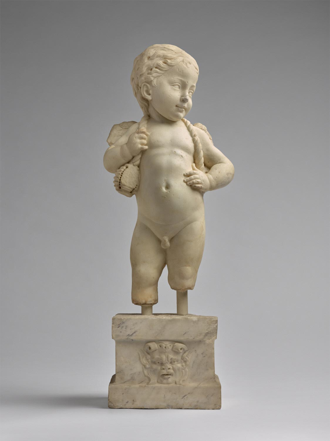Putto Carrying a Festoon
