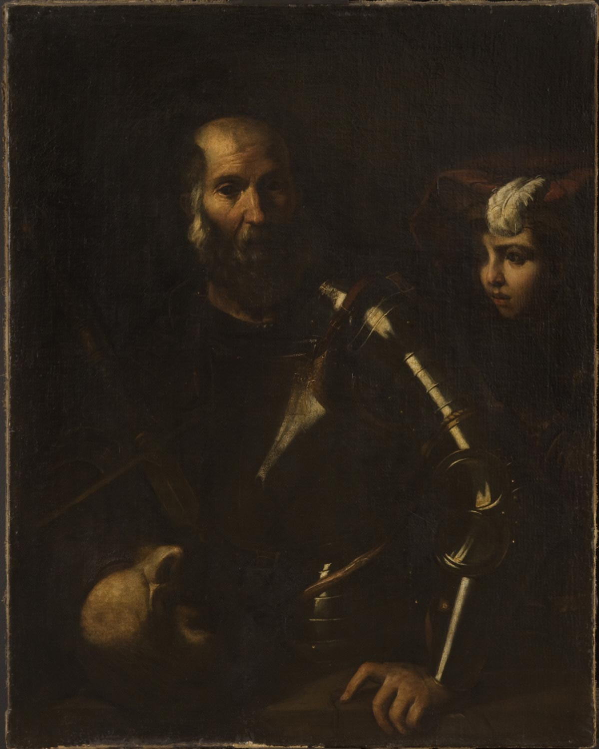 Saul and David with the Head of Goliath
