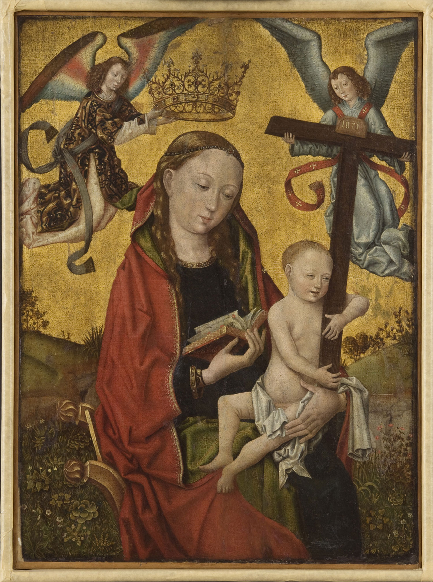 Virgin and Child Holding the Cross