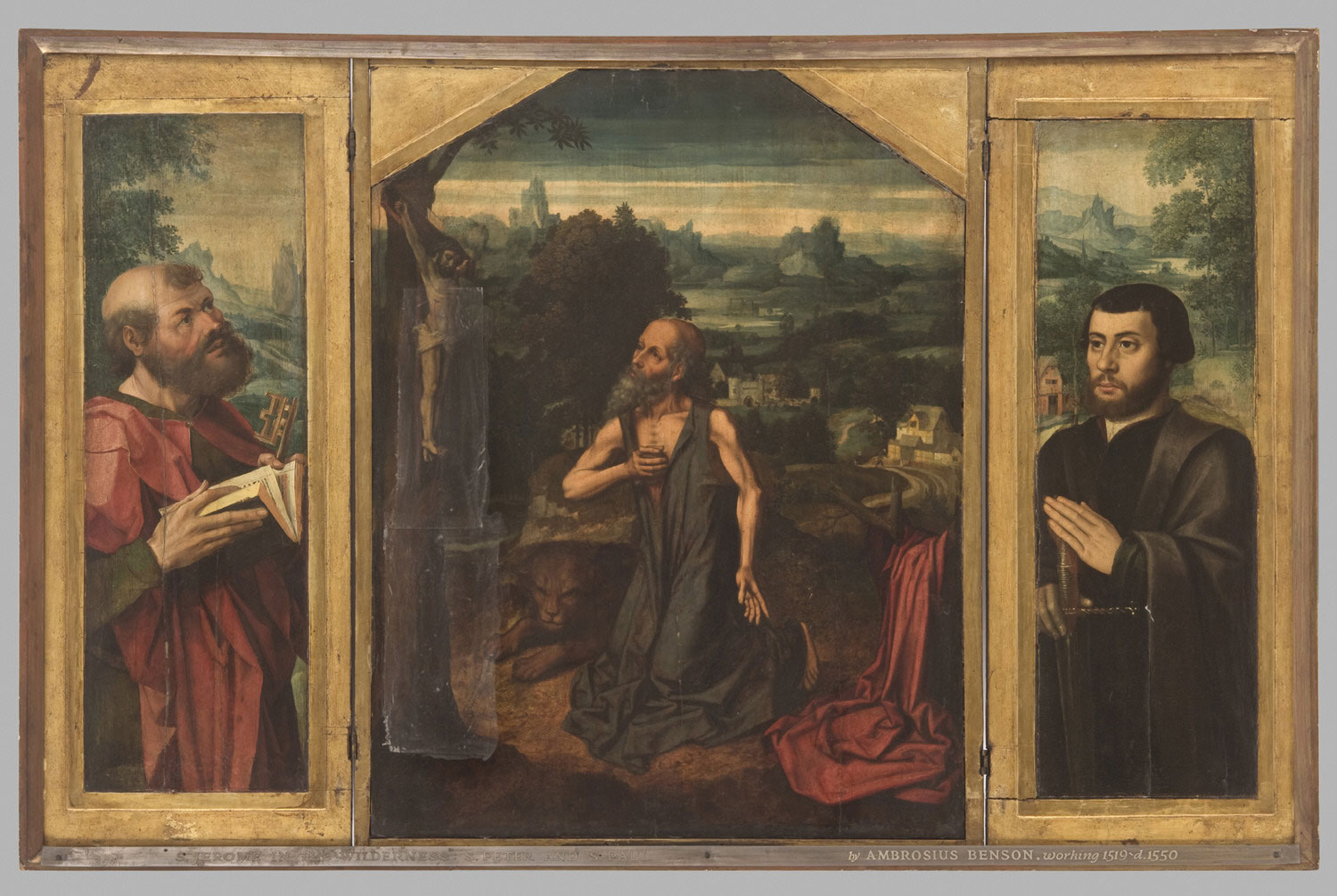 Penitent Saint Jerome, with Saint Peter and a Donor as Saint Paul