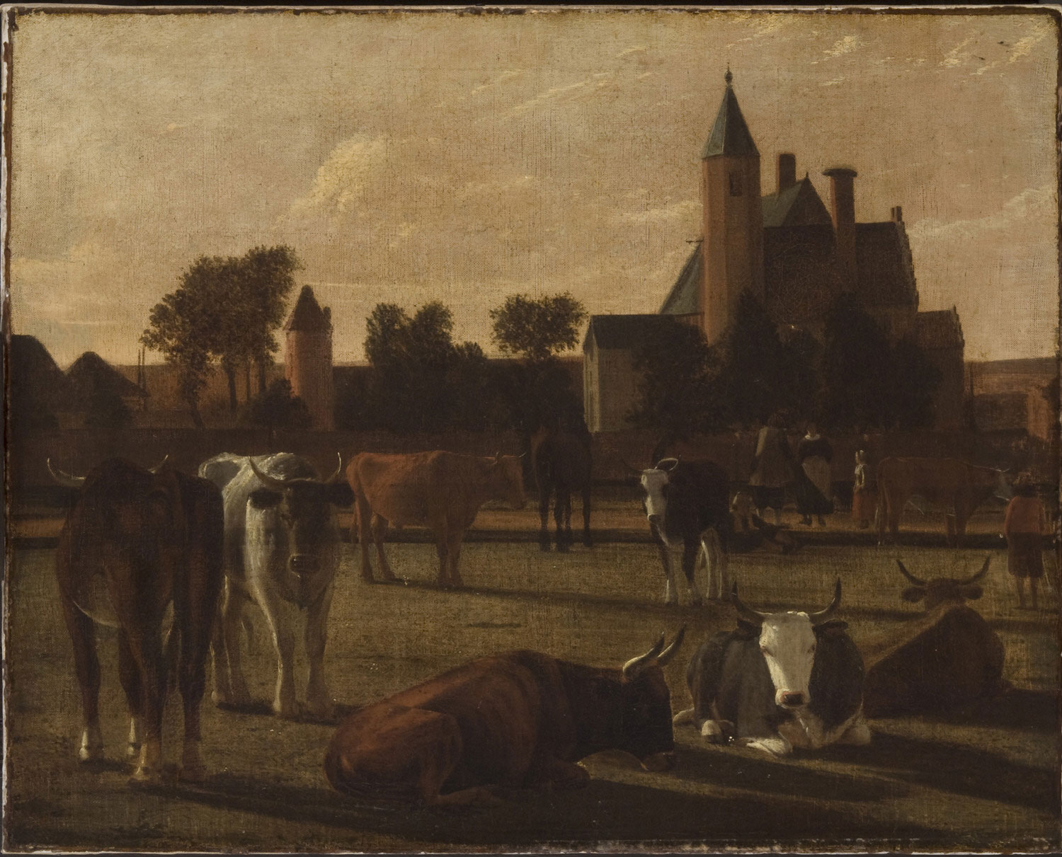 Cattle near a Castle