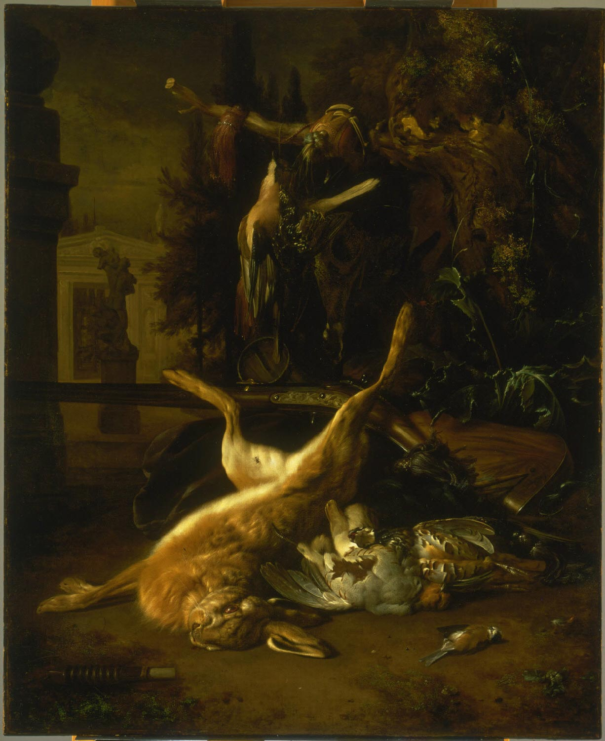 Still Life with a Hare and Birds