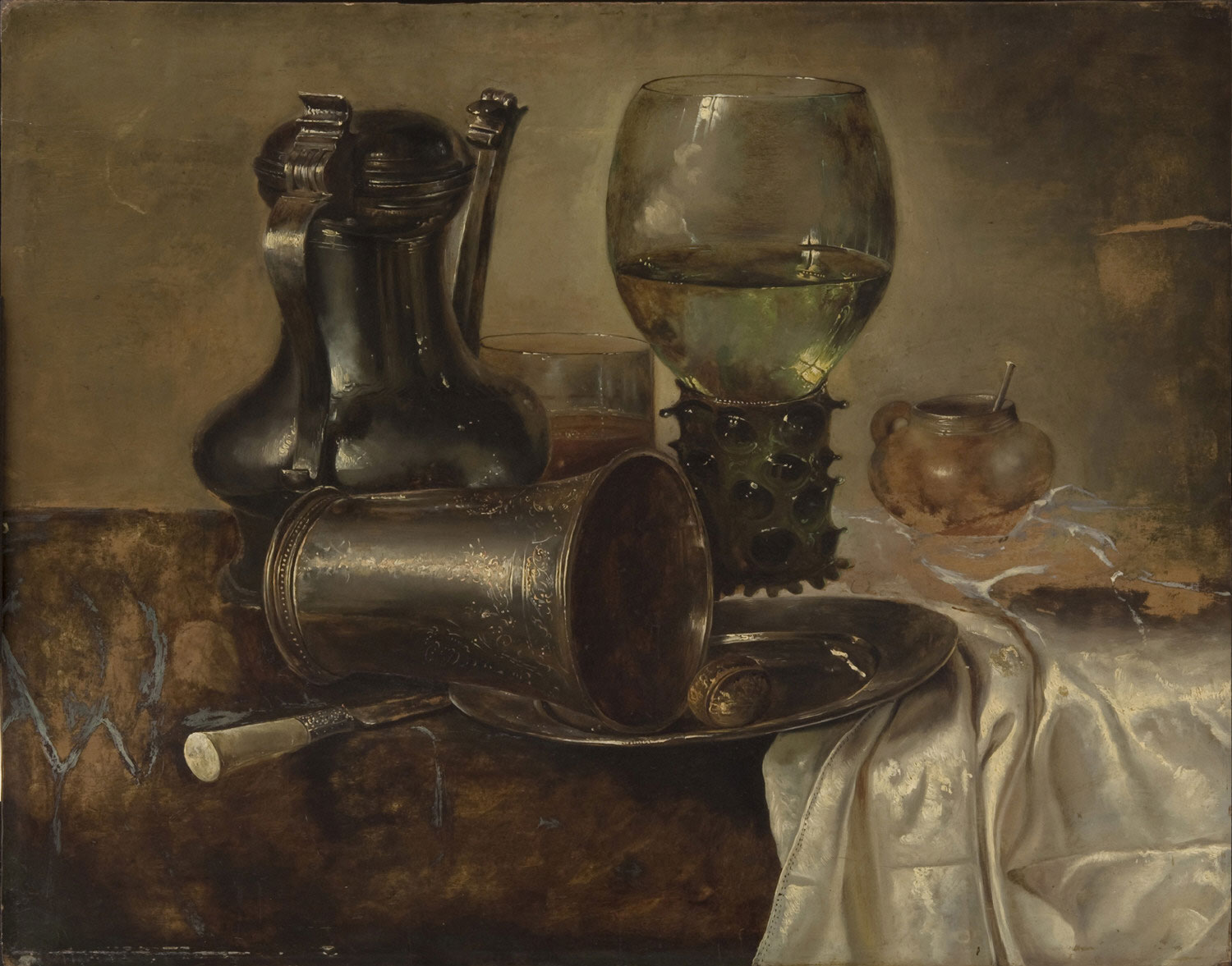 Still Life with a Roemer, a Covered Flagon, and a Beaker
